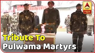 Tribute Being Paid To Pulwama Martyrs | ABP News - ABPNEWSTV