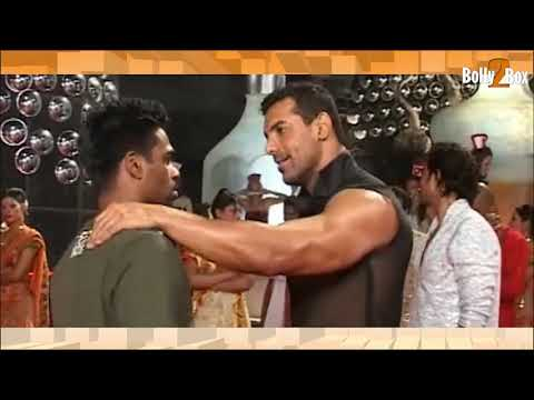 John Abraham Showing off his Muscles