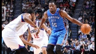 Kevin Durant's 21 Points & 12 Assists Against Sixers