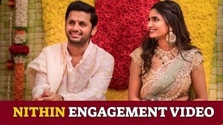 Hero Nithin Engagement EXCLUSIVE Video | Tollywood News | Bhishma Movie - RAJSHRITELUGU