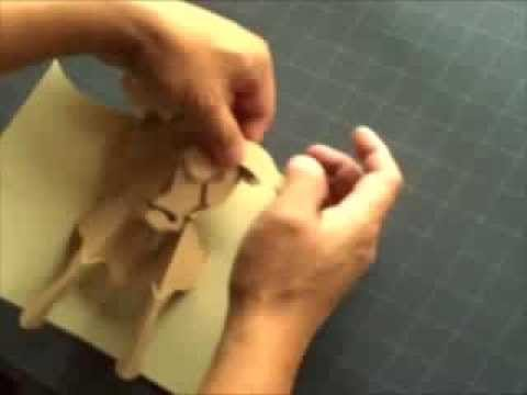 "How to Make a Kirigami Bull ""Taurus"" Pop-up Card"