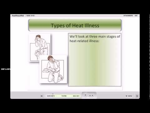 Heat Illness Prevention Heat Stress Exhaustion Cal OSHA Online Training