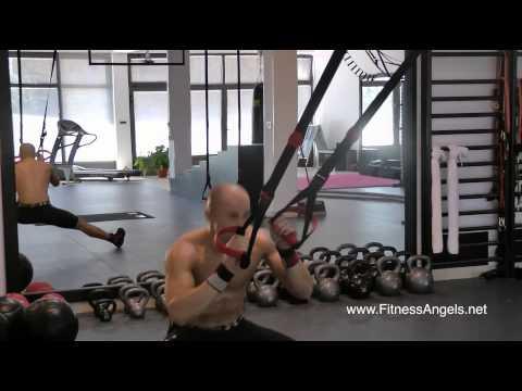Srednje teški trening bez pauze sa suspenzijskim trakama: rutina 2