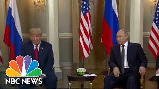 Donald Trump And Vladimir Putin Sit Down For Face-To-Face Talks | NBC News - NBCNEWS
