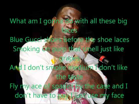 Gucci Mane - Face Card Lyrics ( New 2012!!)