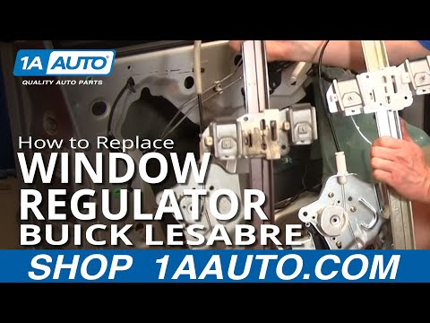 How To Install Repair Replace Broken Power Front Window Regulator Buick Lesabre 00-05 1AAuto.com