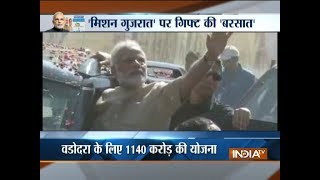 PM Narendra Modi's 3rd visit to Gujarat this month - INDIATV