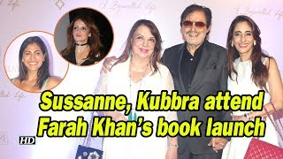 Sussanne Khan, Kubbra Sait attend Farah Khan's book launch - BOLLYWOODCOUNTRY