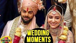 Virat Kohli  And Anushka Sharma's  Wedding Moments - MANGONEWS