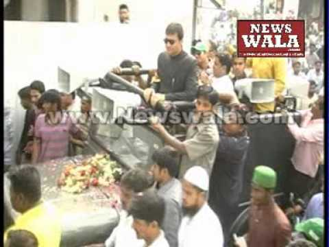Akbaruddin Owaisi's bike rally from Chandrayangutta to Jamal Colony