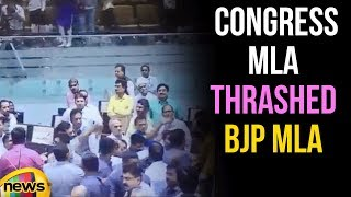 Congress MLA Thrashed BJP MLA In Gujarat Assembly | Mango News - MANGONEWS