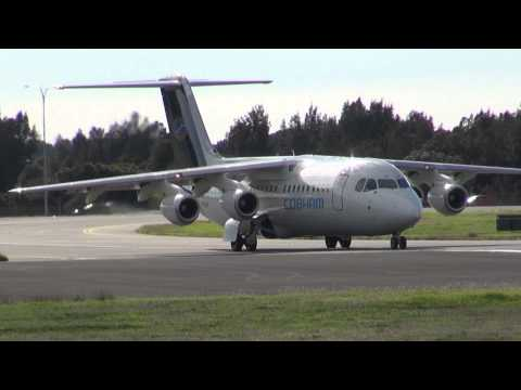 Cobham Aviation Services BAe RJ100 Departure VH-NJH