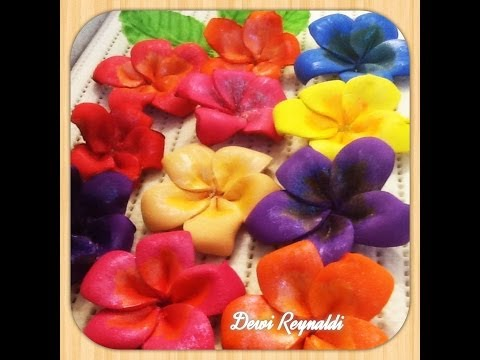 Diy How to Make Plumeria Frangipani Craft Foam Flower - Hair Bow, Brooch, Room/Gift Decoration