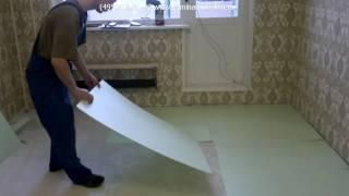 Укладка подложки и ламината