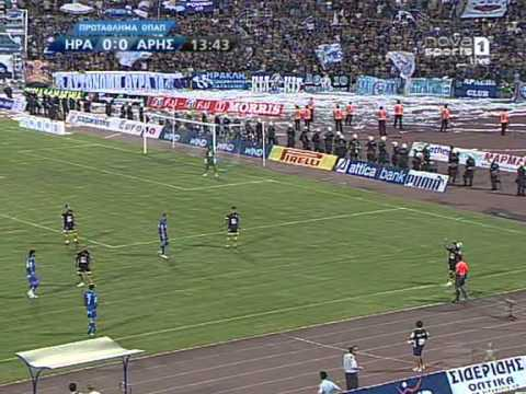 Iraklis-aris 2-2 2009-2010 half (full match)