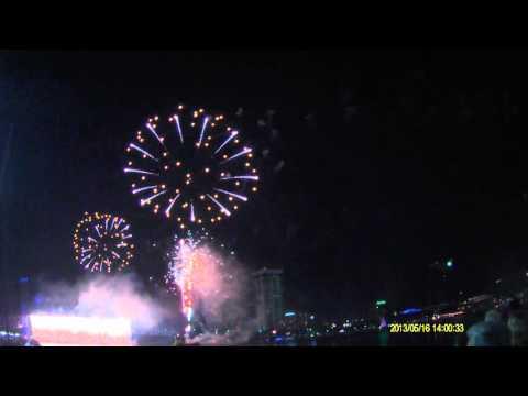 Fireworks on the St. Johns River in Jacksonville, FL