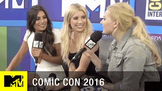 Emma Roberts, Abigail Breslin & Lea Michele on Scream Queens Season 2 | Comic Con 2016 | MTV - MTV