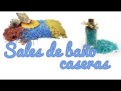 Sales de baño caseras - Manualidades para regalar (Manualidades Fáciles)