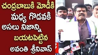 Anakapalle TDP MP Avanthi Srinivas Joins YSRCP | Press Meet After Meeting With YS Jagan | iNews - INEWS