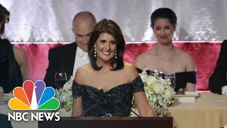 Ambassador Nikki Haley Pokes Fun At Donald Trump, Elizabeth Warren, At Al Smith Dinner | NBC News - NBCNEWS