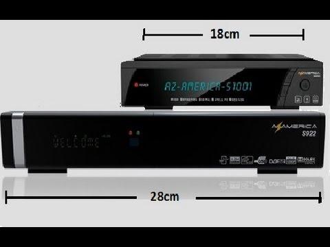 Azamerica S1001 HD abrindo TUDO - 43w - 61w - 70w - 70w banda C (Lançamento)
