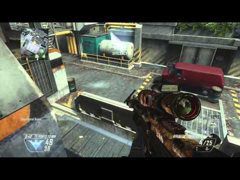 Call of Duty Black Ops 2 360 No Scope Trick Shot!
