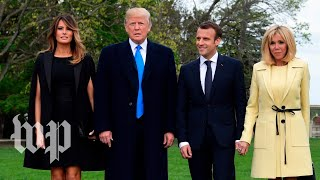 Macron arrives at the White House to meet Trump - WASHINGTONPOST
