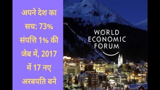 In Graphics: Davos Summit: 73 percent of assets in 1 percent of pocket, 17 new billionaire - ABPNEWSTV