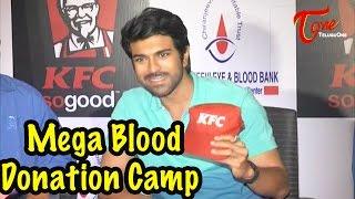 Ramcharan @ Mega Blood Donation Camp By KFC Employees - TELUGUONE