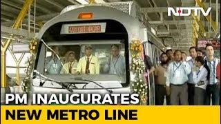 "PM Modi Inaugurates Metro Section Linking Delhi To ""Gateway To Haryana"" - NDTV"