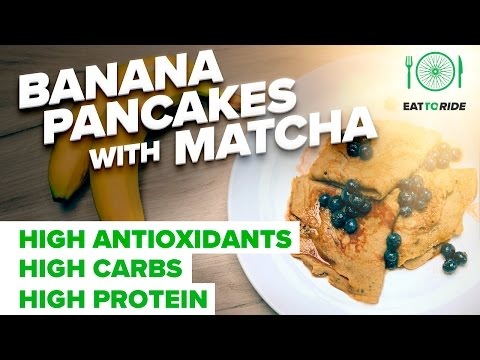 Eat to Ride: Banana Pancakes with Matcha