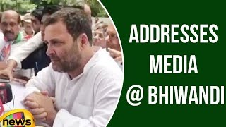 Rahul Gandhi Addresses Media at Bhiwandi in Maharashtra | Rahul Gandhi Latest Speech | Mango News - MANGONEWS