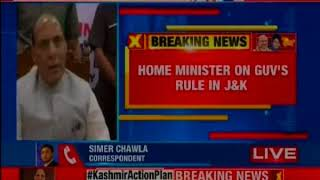 Rajnath Singh speaks on J&K issue, says sole motive is to remove terror from valley - NEWSXLIVE