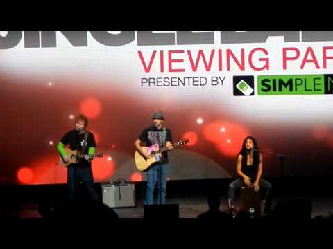 Ed Sheeran &amp; Jason Mraz- Z100 Jingle Ball 2012 Viewing Party: Empire State of Mind