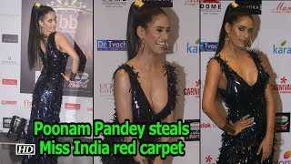Poonam Pandey steals Femina Miss India red carpet - IANSLIVE
