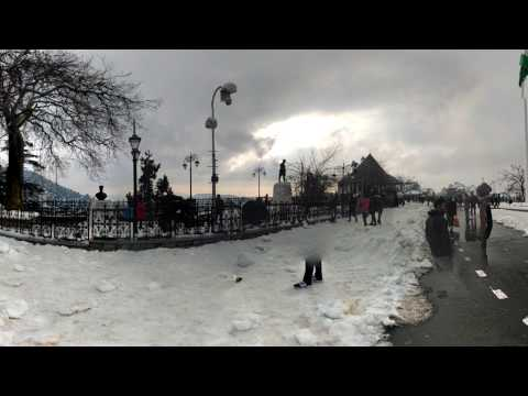 360-Degree (4K) view of Shimla (Queen of Hills) after Snowfall, Ridge-Shimla Hills