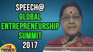 Sushma Swaraj Speech at Global Entrepreneurship Summit 2017 | #GES2017 | Mango News - MANGONEWS