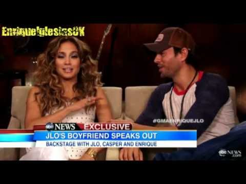 Enrique Iglesias & Jennifer Lopez In Backstage Tour Exclusive 'GMA' Good Morning America 2012