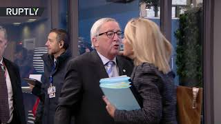 Juncker apparently feeling naughty at the EU summit - RUSSIATODAY