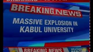 Massive explosion in Kabul University; 25 people killed - NEWSXLIVE
