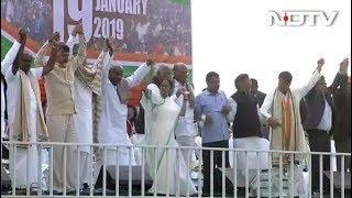 बंगाल में ममता के मंच से विपक्ष की हुंकार - NDTVINDIA