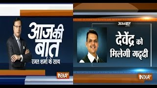 Aaj Ki baat with Rajat Sharma Oct 24, 2014: Devendra Fadnavis likely to be Maharashtra CM next week - INDIATV