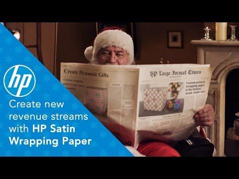 HP Satin Wrapping Paper - papier do pakowania prezentów