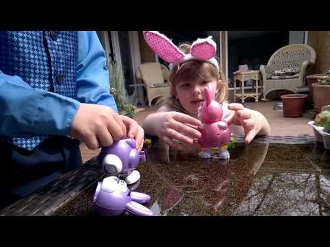 Two Kids and their Pooping Easter Bunnies