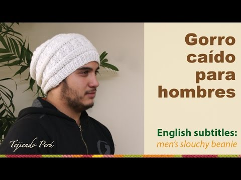 Gorro caído para hombres / English subtitles: men's slouchy beanie