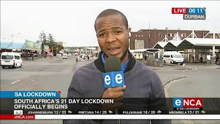 COVID-19: Day 1 of lockdown in Durban