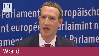 Facebook founder's answers leave angry EU politicians frustrated - FINANCIALTIMESVIDEOS