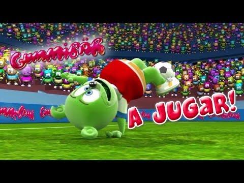 Gummibär en jugar VM fotball sang Chilenske spansk gummy bjørn osito