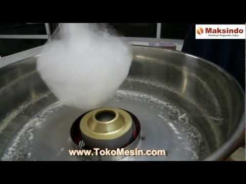 Membuat Gula Kapas Arum Manis dengan Mesin Cotton Candy