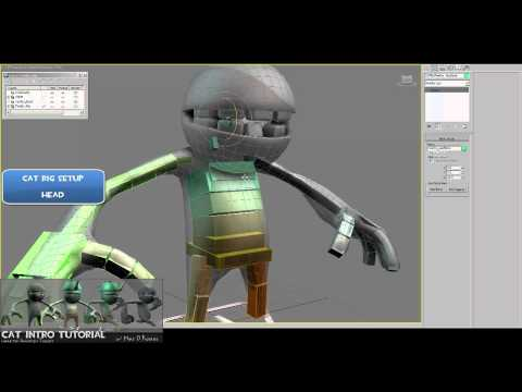 CAT Tutorial: (Ch1 : Rig-PartB) - Creating Character Rigs for UDK(Unreal) using CAT in 3dsMax2011